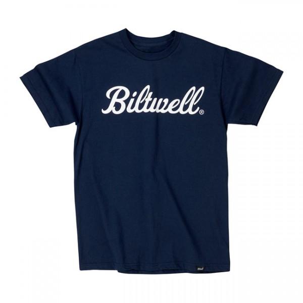 BILTWELL T-Shirt Script Blau
