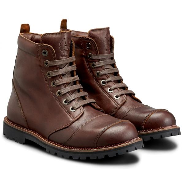 BELSTAFF Resolve brown motorcycle boots