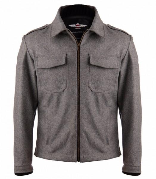 "VAKTARE MG - ""Bomber Motojacket"" - dark heather grey"