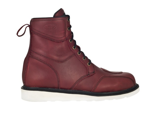 "ROLAND SANDS Motorcycle Boots - ""Mojave"" - waterproof oxblood"