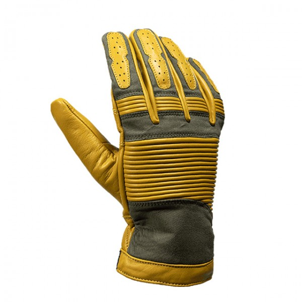 JOHN DOE Handschuhe Durango Gelb und Olive