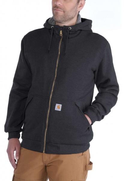 CARHARTT Hoodie Sherpa-Lined Midweight Sweatshirt black
