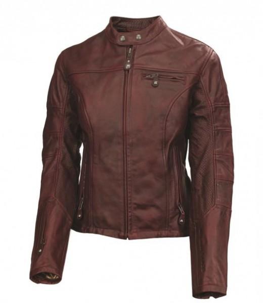 "ROLAND SANDS Women's Jacket - ""Maven"" - oxblood-red"