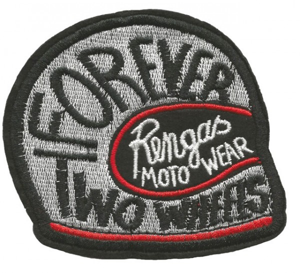 "RENGAS Patch - ""Forever Two Wheels"" - silver"