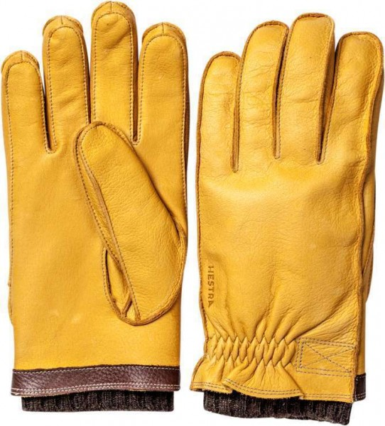 """HESTRA Gloves - """"Gagnef"""" - natural yellow"""