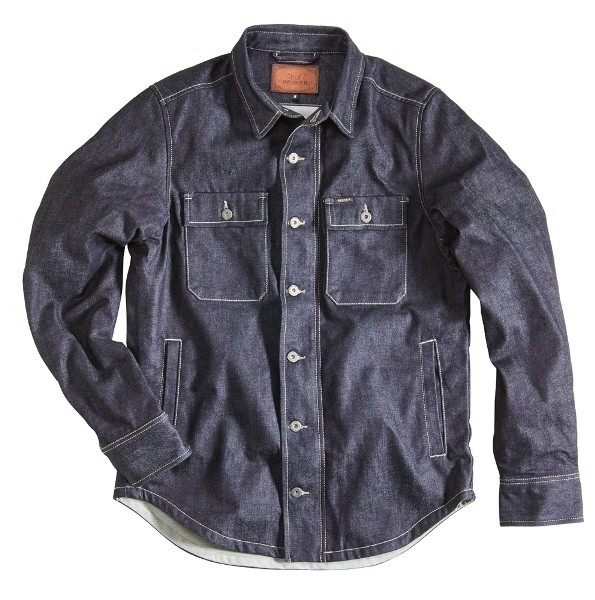 "ROKKER Riding Shirt - ""Denim Rider Shirt Raw"" - blue"