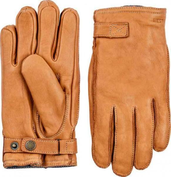 """HESTRA Gloves - """"Deerskin Wool Terry"""" - cork"""