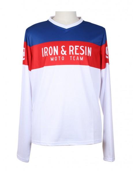 """IRON & RESIN Jersey - """"Gran Prix"""" - red, white & blue"""