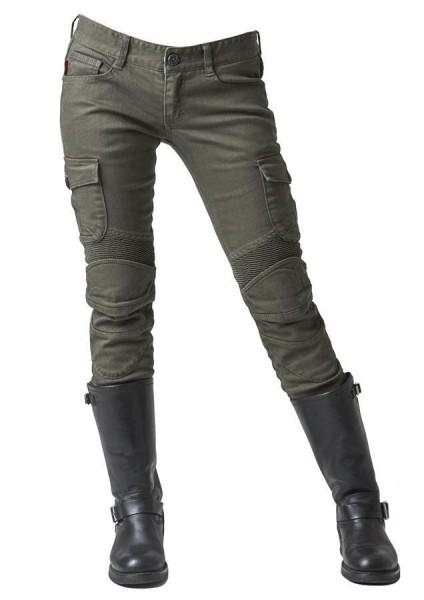 "uglyBROS Damen Jeans - ""Motorpool-G"" - oliv"