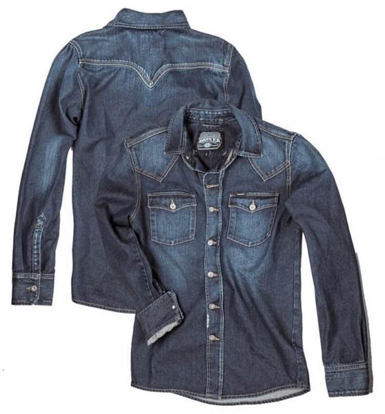 "ROKKER Herrenhemd - ""Worker Shirt Denim"" - indigo stonewashed"