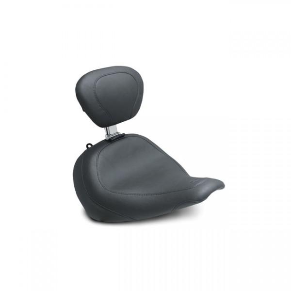"MUSTANG Sitz - ""Mustang wide Tripper solo seat w/rider backrest"" - 18-20 Softail FLFB/S Fat Boy"