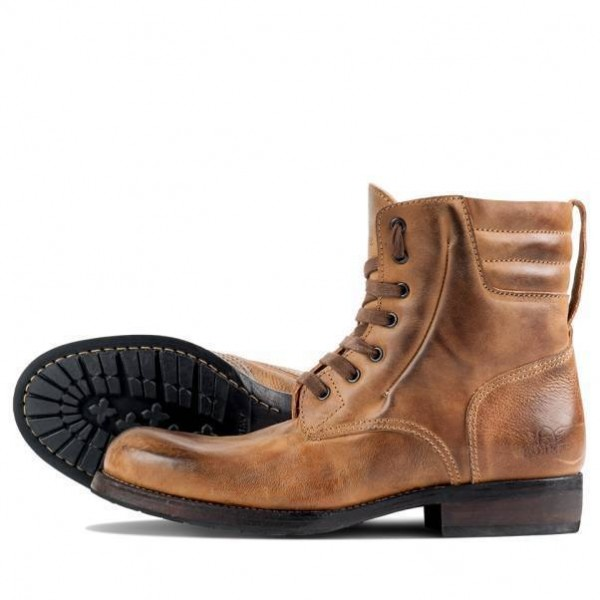 "ROKKER Boot - ""Urban Racer 8 inches"" - motorcycle boots - light brown"