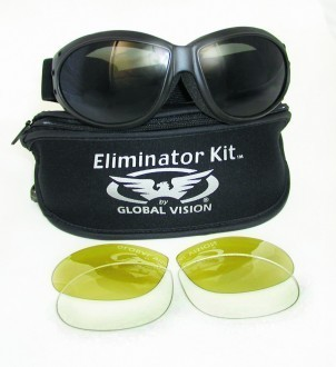 "GLOBAL VISION - ""Eliminator Kit"" - goggles with interchangeable lens"
