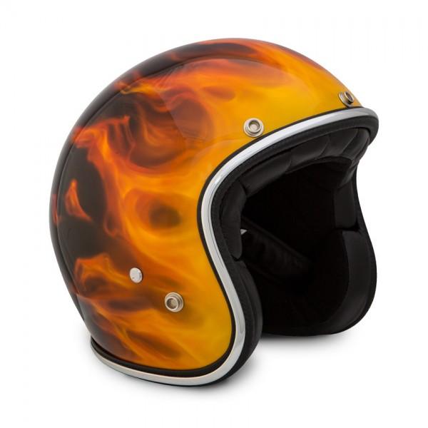 SEVENTIES Superflat Real Flames 2016 Motorcycle Helmet