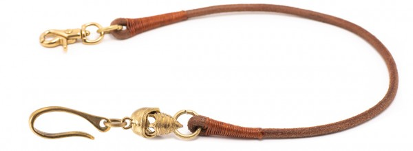 """SEVENTIES Lanyard with Keychain - """"Eat My Dust"""" - brown"""