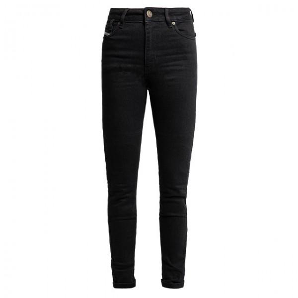JOHN DOE women motorcycle jeans Luna Mono in black