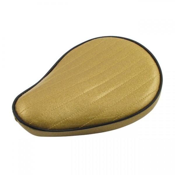 """LEPERA Seat - """"LePera, Spring mounted Metalflake solo seat. Solid Gold"""" -"""