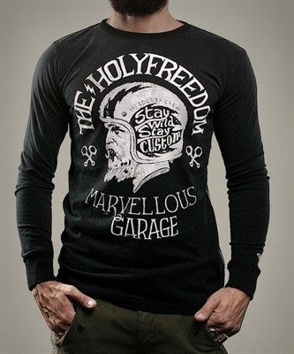 "HOLY FREEDOM Men's Longsleeve - ""Leonida black"" - black"