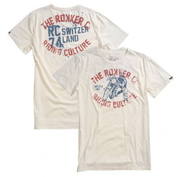 "ROKKER T-Shirt - ""Switzerland"" - weiss"