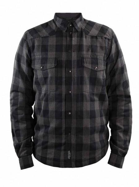 JOHN DOE Motorradhemd Motoshirt grau u. schwarz