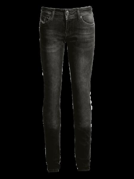 JOHN DOE Damen Jeans Betty High Waist Used CE XTM, schwarz