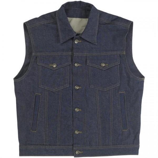 """BILTWELL Vest - """"Prime Cut Collared"""" - indigo"""