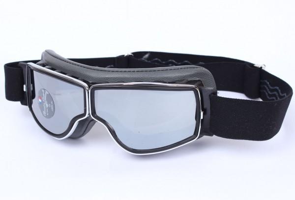 AVIATOR Brille T2 grau chrom silber verspiegelt
