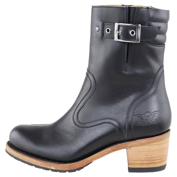 """ROKKER Women's Motorcycle Boots - """"Highway Lady"""" - antique black"""