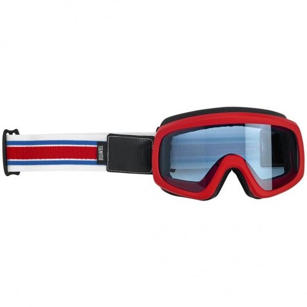 "BILTWELL Goggle - ""Overland 2.0 Racer"" - R/W/B"