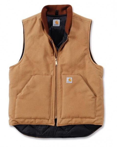 """CARHARTT Vest - """"Duck Vest Arctic Quilt"""" - brown"""
