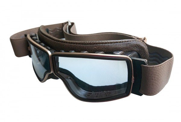 AVIATOR Motorcycle Goggles T2 antique brown gold clear
