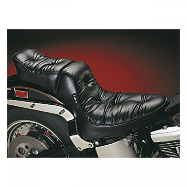 """LEPERA Seat - """"LePera, Regal Plush 2-up seat"""" - 00-17 Softail (excl. Deuce, FXS, FLS/S) with up to 150mm tire (NU)"""