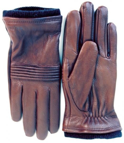 """HESTRA Damen Handschuhe - """"Isa"""" - kastanienbraun"""