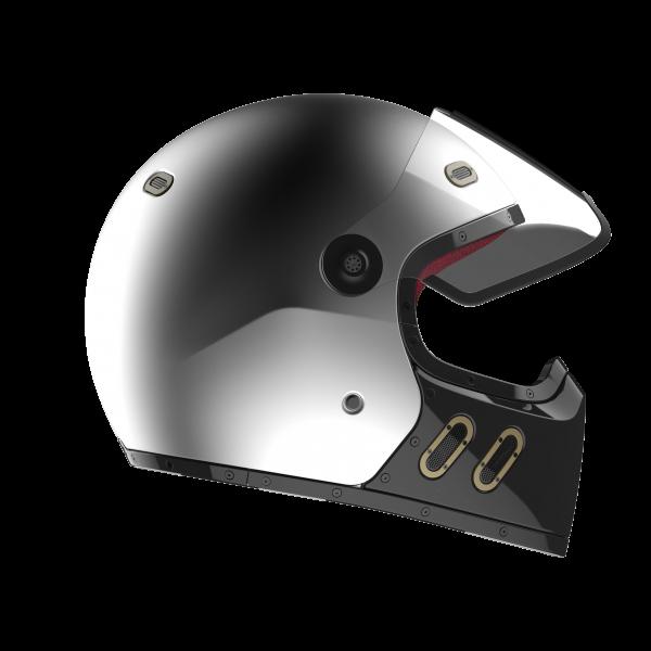 Qwart Carbon Helm Phoenix Matt Silber Grau Schwarz