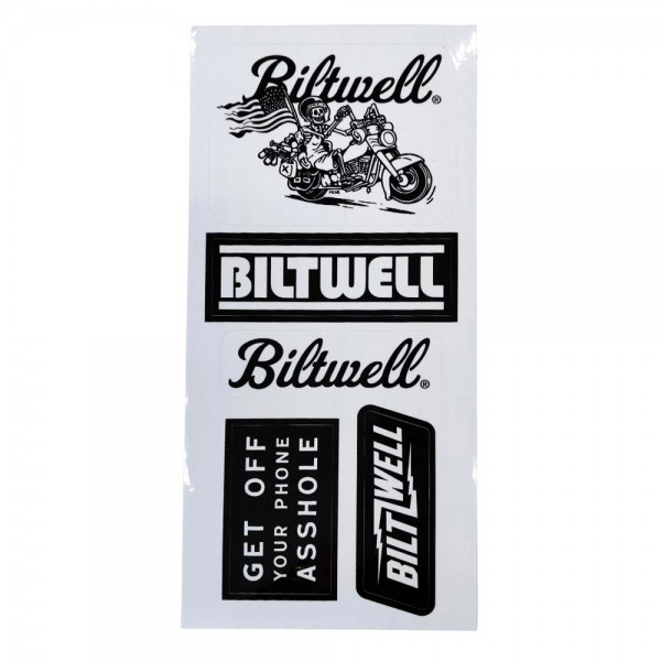 BILTWELL Sticker Sheet B mit 5 Aufklebern