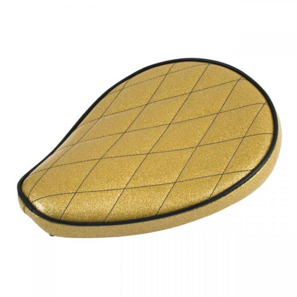 """LEPERA Sitz - """"Spring mounted Metalflake solo seat. Solid Gold"""" - MULTIFIT"""