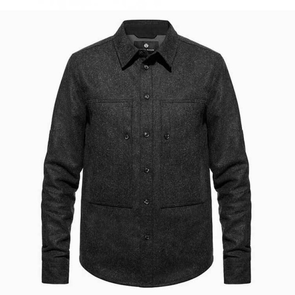 "ASHLEY WATSON Motorradhemd - ""Hockliffe Overshirt"" - dunkelgrau"