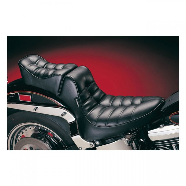 """LEPERA Sitz - """"Regal 2-up seat. Pleated"""" - 84-99 Softail with up to 150mm rear tire (NU)"""