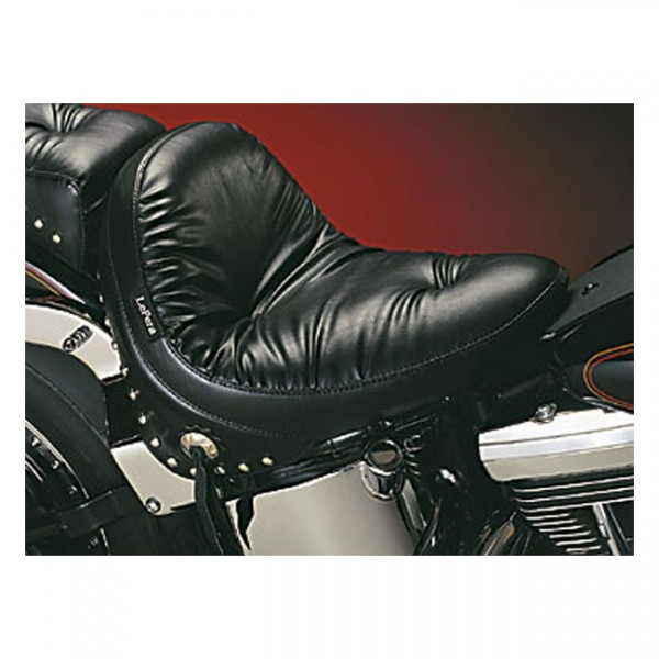 """LEPERA Sitz - """"Monterey solo seat. Regal Plush with skirt"""" - 08-17 Softail with 150mm tire (fender m"""