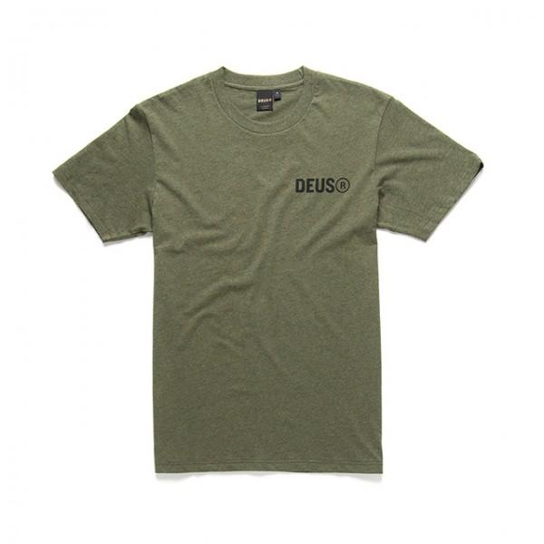 DEUS EX MACHINA T-Shirt Cogs Tee in Oliv