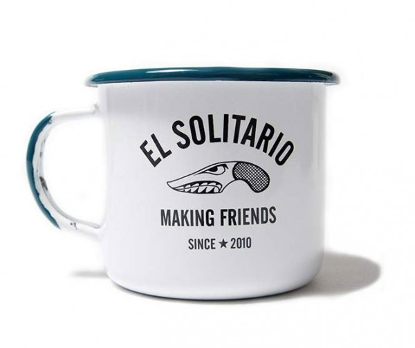 "EL SOLITARIO Mug - ""Making Friends Enamel Mug"" - Set of 2"