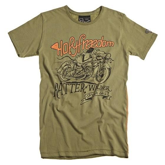 "HOLY FREEDOM T-Shirt - ""Ratter Green"" - grün"