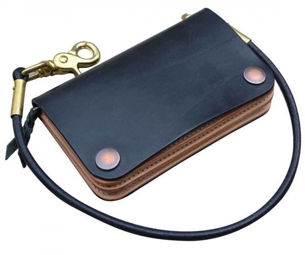 """TIMELESS LEATHER Wallet - """"Vintage Wallet"""" - black"""