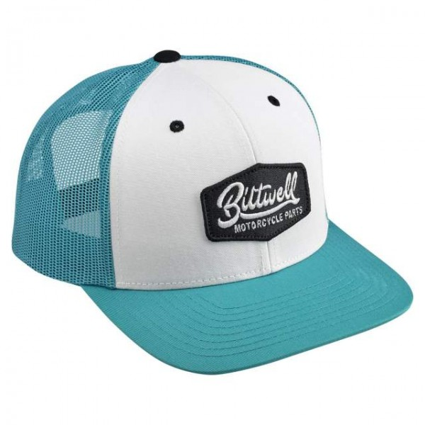 BILTWELL hat Parts teal white and black