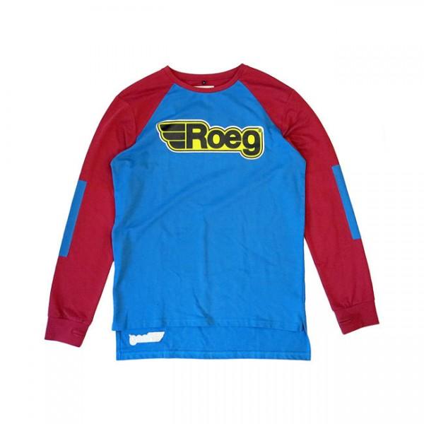 """ROEG - """"Ricky Sweatshirt"""" - bordeaux & blue"""