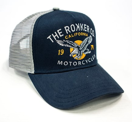 "ROKKER Cap - ""Eagle Trukker"" - blau & grau"