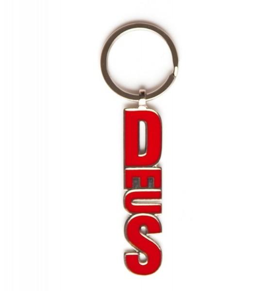 "DEUS EX MACHINA Schlüsselanhänger - ""Blocker Keyring"" - rot"