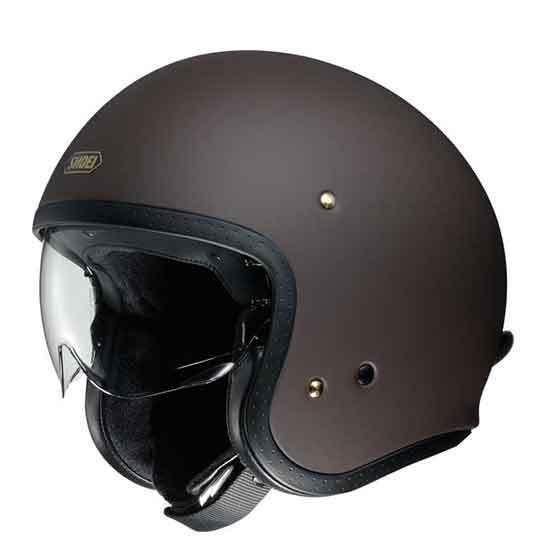 Shoei J-O Open Face Helmet Matt Brown