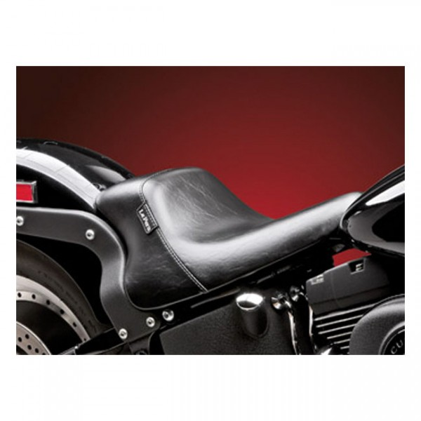 """LEPERA Seat - """"LePera, Bare Bones up-front solo seat. Smooth"""" - 00-07 Softail (excl. FXSTD Deuce). (with tire up to 150mm and frame mounted seat)"""
