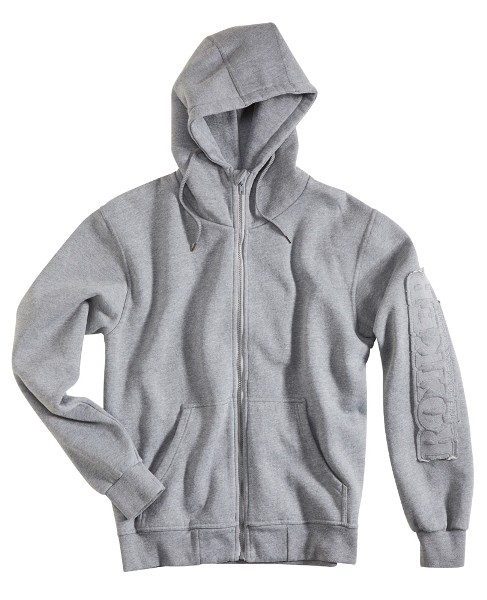 """ROKKER Unisex Hoodie - """"Zip Rokker Grey"""" - grau"""